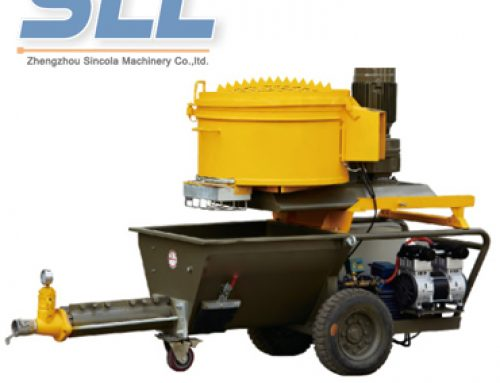 Multi-functional mortar spraying machine work efficiency