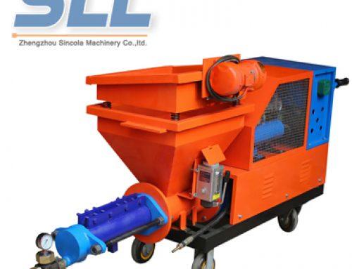 Mortar plastering sprayer machine operation process